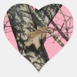 Pink Camouflage Heart Sticker