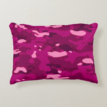 Pink Camouflage II Accent Pillow