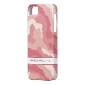 Pink Camouflage iPhone 5 Case-Mate Barely There™