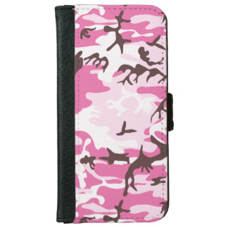 Pink Camouflage iPhone 6/6s Wallet Case