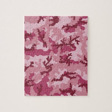 Pink camouflage jigsaw puzzle