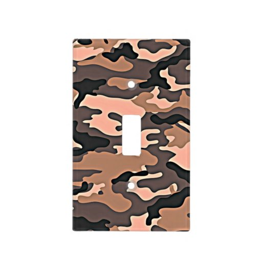 Pink camouflage light switch cover