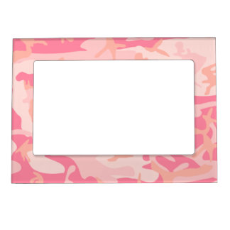 Pink camouflage magnetic picture frame