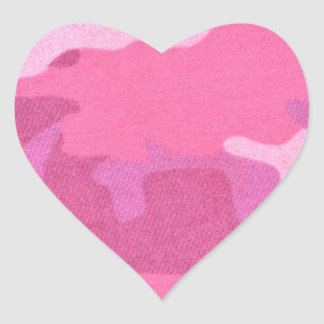 Pink Camouflage Military Pattern Peace Destiny Heart Sticker