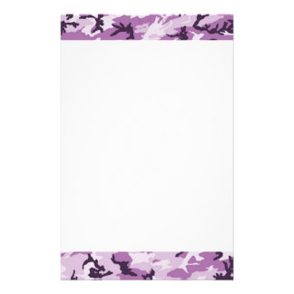 Pink Camouflage Military Pattern Stationery