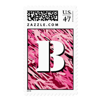Pink Camouflage Monogram Postage