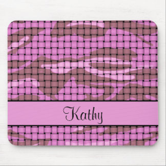 Pink Camouflage Mouse Pad