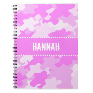 Pink Camouflage Note Book