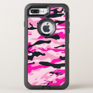 competitive price 69994 deba9 Pink Camouflage OtterBox Defender iPhone 8 Plus/7 Plus Case
