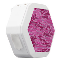Pink Camouflage Pattern Boombot REX Speakers
