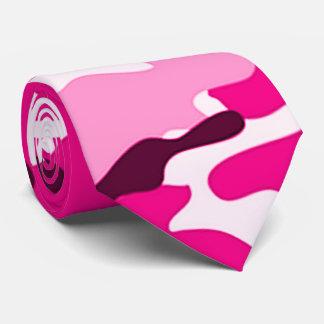 Pink Camouflage Pattern Tie