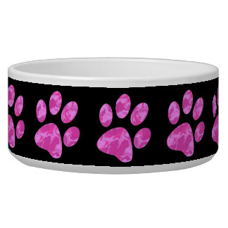 Pink Camouflage Paw Bowl
