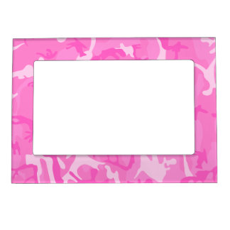 Pink camouflage Picture Frames Picture Frame Magnets