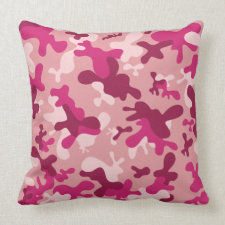 Pink Camouflage Pillow