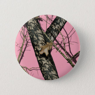 Pink Camouflage Pinback Button