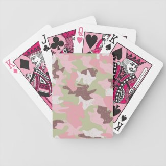 Pink Camouflage Playing Cards