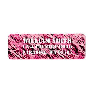 Pink Camouflage Return Address Label