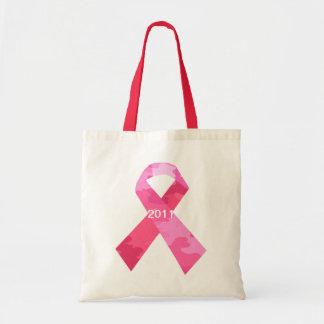 Pink Camouflage Ribbon Date Ribbon Tote Bag