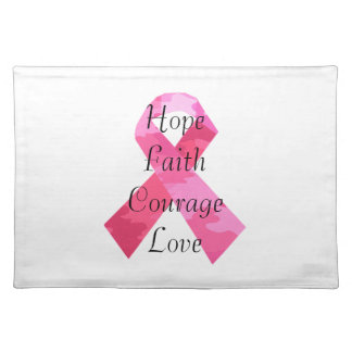 Pink Camouflage Ribbon Faith Placemat