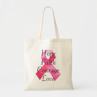 Pink Camouflage Ribbon Faith Tote Bag