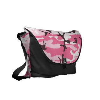 Pink Camouflage Rickshaw Messenger Bag