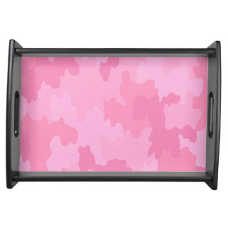 Pink Camouflage Serving Tray