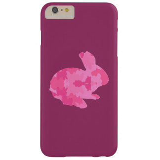 Pink Camouflage Silhouette Bunny iPhone 6 Case