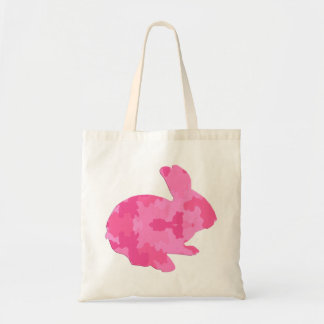 Pink Camouflage Silhouette Easter Bunny Tote Bag