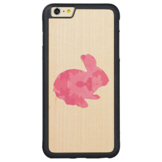 Pink Camouflage Silhouette Rabbit iPhone 6 Case