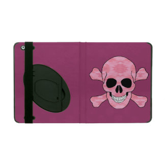 Pink Camouflage Skull And Crossbones iPad Case