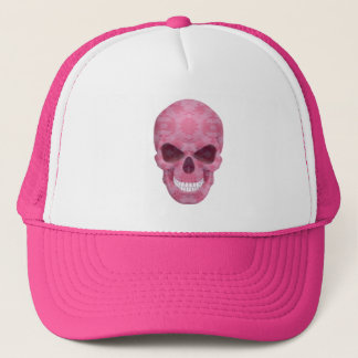 Pink Camouflage Skull Hat