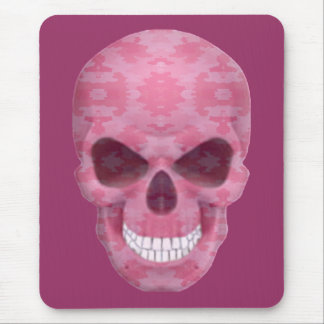Pink Camouflage Skull Mouse Pad