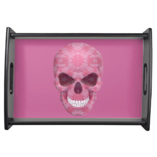 Pink Camouflage Skull Serving Tray