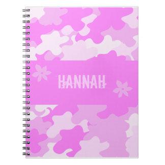 Pink Camouflage Spiral Notebooks