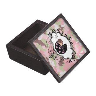 Pink Camouflage Trinket Box Premium Gift Box