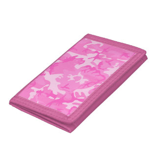 Pink camouflage Wallets