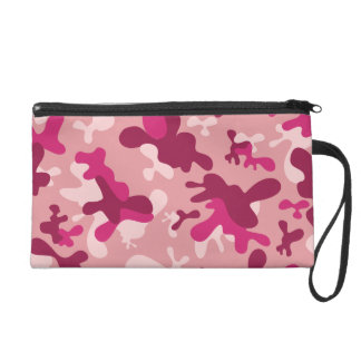 Pink Camouflage Wristlet