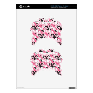 Pink Camouflage Xbox 360 Controller Skins