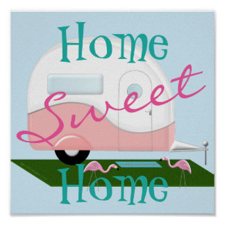 Pink Camper Sweet Home Poster