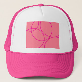 Pink-Canada-With-Curves Trucker Hat