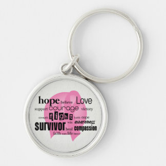 Pink Cancer Awareness Key Chains