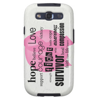 Pink Cancer Awareness Samsung Galaxy S3 Cover
