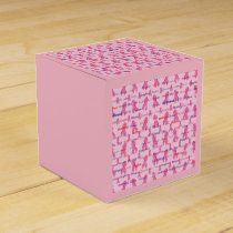 Pink Cancer Ribbon for Cancer Support Favor Box