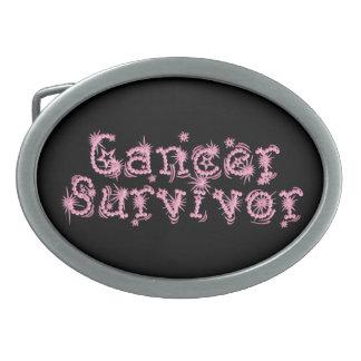 Pink Cancer Survivor Feminine Belt Buckle