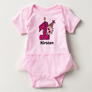 Pink Candle Clown First Bithday T-shirt