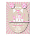 Pink Candy Buffet Birthday Party Invitation