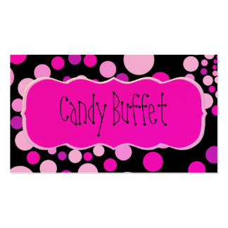 Pink Candy Business Cards