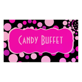Pink Candy Business Card Template