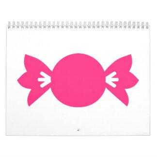 Pink candy calendar