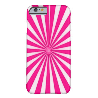Pink Candy Cane Star Burst Barely There iPhone 6 Case